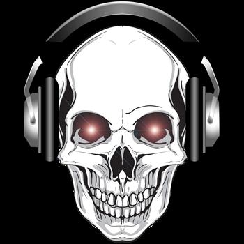 Red Eye DJ Skull Bone