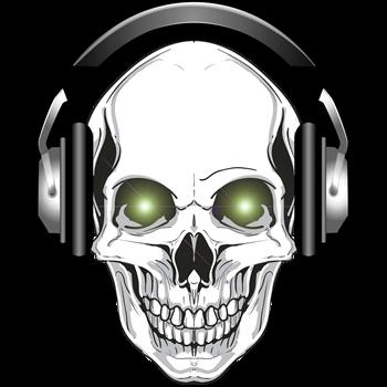 Green Eye DJ Skull Bone