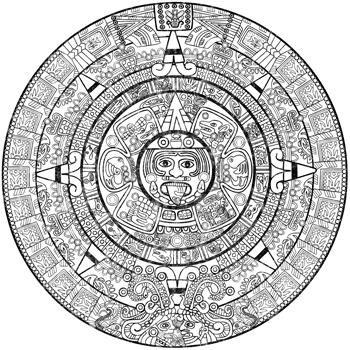 Aztec Sun Stone Calendar