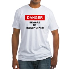 Beware/ Go Vertical Helicopter Ash Grey Fitted T-Shirt