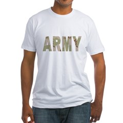 Army-Black-Shirt-2 Fitted T-Shirt
