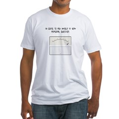 2-sided My Stress Machine Fitted T-Shirt