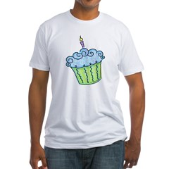 Cute Cupcake (blue) Fitted T-Shirt