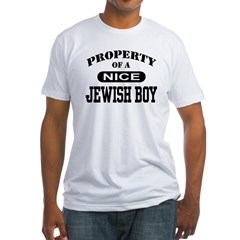 Property of a Nice Jewish Boy Fitted T-Shirt