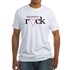 big sisters rock heart Fitted T-Shirt