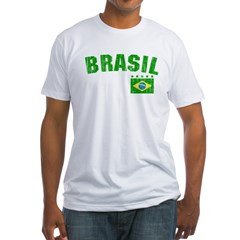 BRAZIL-BLACK-worn Fitted T-Shirt