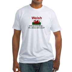 Good Looking Welsh Fitted T-Shirt