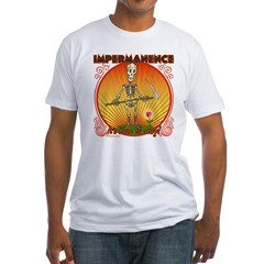 Impermanence4black Fitted T-Shirt