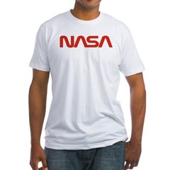 NASA Red Worm Lo Fitted T-Shirt