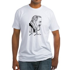 "Padre Pio Signature Grey T-Shirt. ""Pray, Hope"" Fitted T-Shirt"