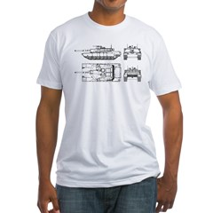 M1-A1 Abrams Main Battle Tank Fitted T-Shirt