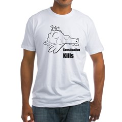 Constipation Kills! Sleeveless Chicken T-Shir Fitted T-Shirt