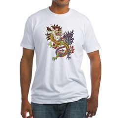 dragon10Black Fitted T-Shirt