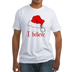 I Believe in Santa Ash Grey Fitted T-Shirt
