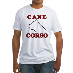 Cane Corso Logo Red Fitted T-Shirt