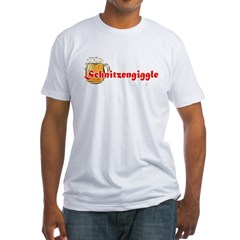 schnitzengiggle-black Fitted T-Shirt