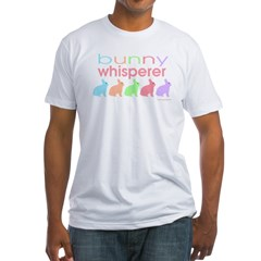 bunny_whisper_b Fitted T-Shirt