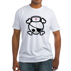 Nurse Molly II-bw Fitted T-Shirt
