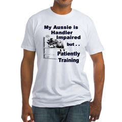 Aussie Agility Ash Grey Fitted T-Shirt