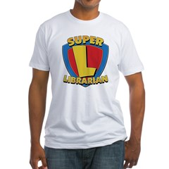 SuperLibrarianDrkT Fitted T-Shirt