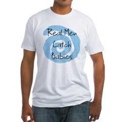 RealMen.jpg Fitted T-Shirt