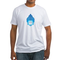 blue buddha Fitted T-Shirt
