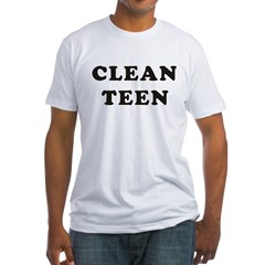 clean1_10_10 Fitted T-Shirt