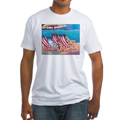 Beach Chairs Fitted T-Shirt