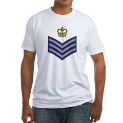 RAF Flight Sergeant&lt;BR&gt; Long Sleeves 2 Fitted T-Shirt