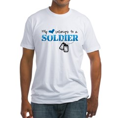 My heart belongs to a Soldier Fitted T-Shirt