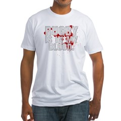 rugbyINMYBLOOD Fitted T-Shirt