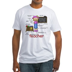 Anatomy of a Teacher Fitted T-Shirt