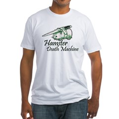 hamster death machine WEB.psd Fitted T-Shirt