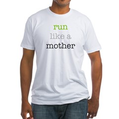 Mother Run Design Fitted T-Shirt