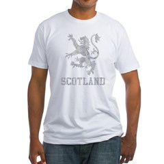 vintageScotland2Bk Fitted T-Shirt