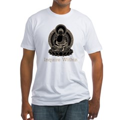 buddha5Bk Fitted T-Shirt