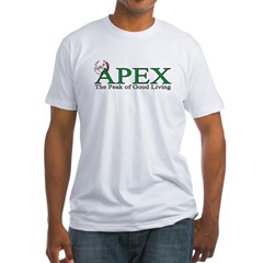 Apex North Carolina Peak of Good Living Fitted T-Shirt
