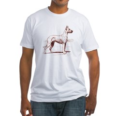 Great Dane Ash Grey Fitted T-Shirt