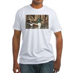Shoveler Ducks Ash Grey Fitted T-Shirt