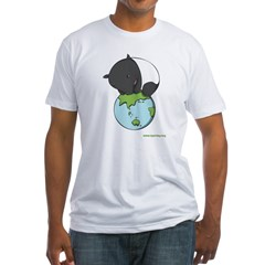 : 'Tapir on World' Fitted T-Shirt