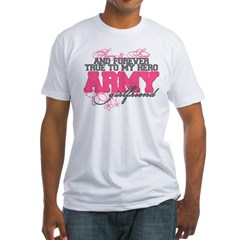 Strong&Sweet Army Girlfriend Fitted T-Shirt