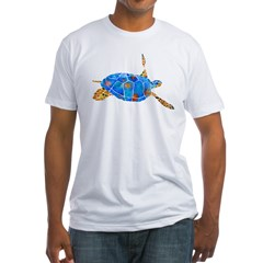 Sea Turtle 2 Fitted T-Shirt