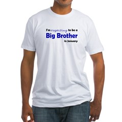 I'm Expecting Big Bro January Fitted T-Shirt