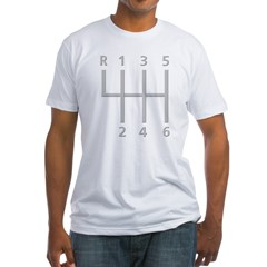2-Stick Shift 6 Speed.psd Fitted T-Shirt