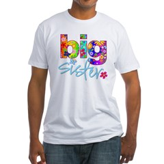 2-big sister flower back Fitted T-Shirt