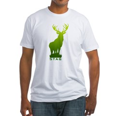 DEER STAG GRAPHIC Fitted T-Shirt