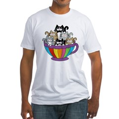 TS_6-cats-coffee-mug Fitted T-Shirt