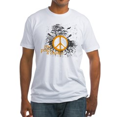 give_peace_scene_orange_dark Fitted T-Shirt