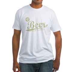 BEER_CHEAPER_THAN_GAS-dark Fitted T-Shirt