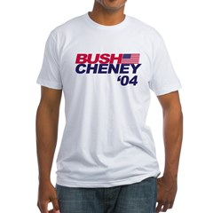 Bush/Cheney Ash Grey Fitted T-Shirt